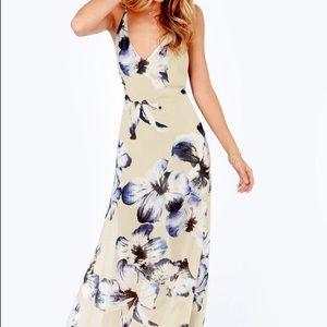 Lush floral maxi dress size medium